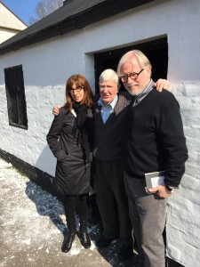 Lydia, Barney and P.W. outside The Forge